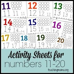 are hands-on learning activities for numbers with free printable activity sheets.Here are hands-on learning activities for numbers with free printable activity sheets. Teaching Numbers, Numbers Kindergarten, Numbers Preschool, Math Numbers, Preschool Worksheets, Math Classroom, Teaching Math, Learning Activities, Preschool Activities