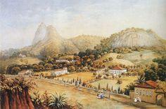 A.P. Residências no final da rua São Clemente; c. 1850