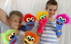Blue sock puppet, moving mouth puppet, hand puppet, therapy and educational…