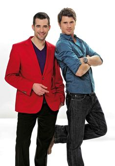 """Jo Weil - and former fellow Co -Star Thore Schölermann. they played fictional Gay Couple at """"Vorbidden Love"""". In Real Life, Jo + Thore + Jana Julie Kilka( Thore´s Girlfriend and Co-Star at """"Vorbidden Love"""") are BFF´s ever since. Forbidden Love, Gay Couple, S Man, Beautiful Men, Girlfriends, Real Life, Tv Shows, Actors, Blazer"""