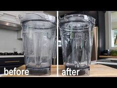 I was surprised how easy it is to clean a cloudy Vitamix container. And, after an optional vinegar soak and simple baking soda paste brushing, how easy it is. Best Vitamix, Vitamix Blender, Vitamix Recipes, Blender Recipes, Canning Recipes, Green Juice Detox, Green Juices, Deep Cleaning, Cleaning Hacks