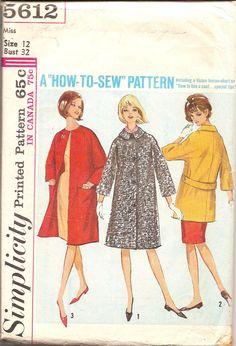 Vintage Sewing Pattern 1960s CoatSimlicity 5612 by TenderLane, $8.00