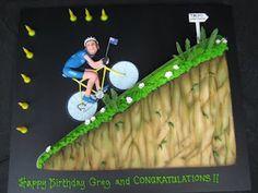 Bike rider cake