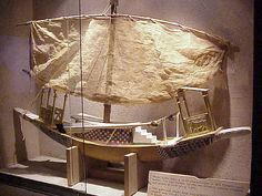 Model of an ancient Egyptian boat.