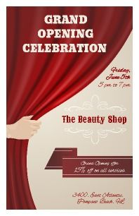 Salon and spa grand opening invitation grand opening salons and spa promote your grand opening with this flyer first class and classy looking personalize to stopboris