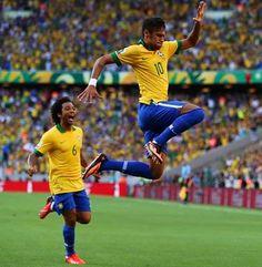 Neymar scores a beautiful goal first half lets go Brazil! Neymar Jr, Barcelona Champions League, Fc Barcelona Neymar, Nike Soccer Jerseys, Free Football, Sport Football, Football Predictions, Camera Apps, National Football Teams