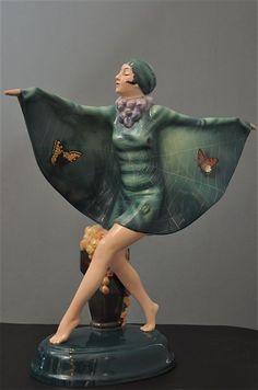 LORENZL, Goldscheider Art deco figurine (hva)