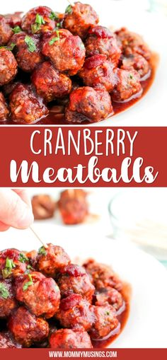 Cranberry Meatballs will be the star of your holiday party or potluck! This Cocktail Meatball Recipe is made with cranberry sauce and chili sauce. Cranberry Meatballs, Cocktail Meatballs, Appetizers For Party, Appetizer Recipes, Dinner Recipes, Dinner Ideas, Christmas Appetizers, Cranberry Cocktail, Creole Recipes