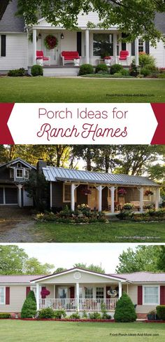Have a ranch home? We have oodles of ideas for your ranch home porch. Lots of … Have a ranch home? We have oodles of. House Front Porch, Front Porch Design, Home Porch, Porch Roof, Porch Designs, Front Porches, Porch Ideas For Brick House, House Ideas, Porch Makeover