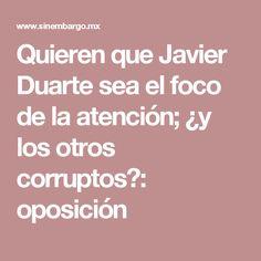Quieren que Javier Duarte sea el foco de la atención; ¿y los otros corruptos?: oposición