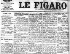 Manifesto Futurista, pelo poeta italiano Filippo Marinetti, publicado no jornal Figaro.