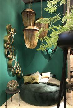 Styling ID bij Maison&Objet 2017 Aangenaam XL Marc Poldermans Living Room Green, Green Rooms, Bedroom Green, Home And Living, Living Room Decor, Bedroom Decor, Home Interior, Interior Decorating, Interior Design