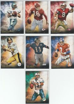 "SUPER Lot Of (7) 2015 Topps VALOR ""Veterans"" Football Cards BIG NAMES!!!"