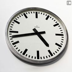Siemens German Industrial Clock Super-large industrial clock by Siemens, 70cm, polished steel, to remind you big-time how late you are. More images @ theoryofsupply.com