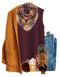 """""""🍂🍃🎃🍁"""" by legitmaddywill ❤ liked on Polyvore featuring Uniqlo, Codello, Yves Salomon, S'well and L.L.Bean"""