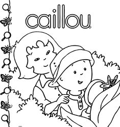 nice Caillou Write Coloring Page | Beginning of school | Pinterest ...