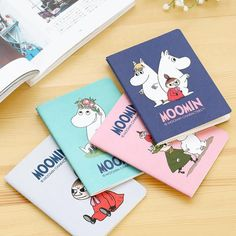 A5/A6/B5 Cartoon New Moomin Soft Cover Note book Exercise Book Diary Notebook Gift Stationery