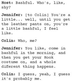Cute interview with Jennifer Morrison and Colin O'Donoghue.