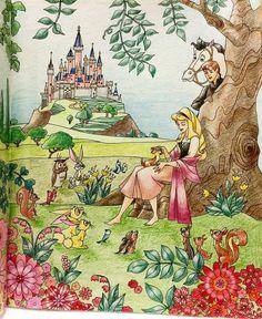 #旅するディズニー塗り絵 #コロリアージュ#大人の塗り絵 #オーロラ姫 #coloring #aurora