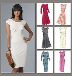 Vogue Patterns 8685 Misses' Dress sewing pattern Vogue Patterns, Miss Dress, The Dress, Sewing Clothes, Diy Clothes, Dress Sewing, Knit Dress, Moda Mania, Clothing Patterns