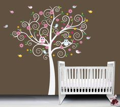 Hey, I found this really awesome Etsy listing at https://www.etsy.com/listing/176534080/owl-wall-decal-tree-nursery-decal-kids