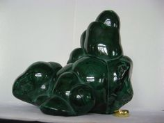 $249.99***MALACHITE STALACTITE:  Deep, re-energizing greens swirl in contours around each polished nodule Crystal Gifts, Contours, Malachite, Minerals, Art Pieces, Deep, Rock, Crystals, Artworks
