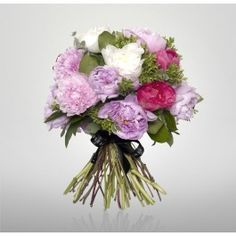 Treat a loved one on a special occasion or just to say thank you to this bouquet of mixed pink and white peonies