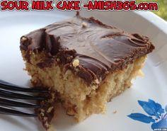 Amish Sour Milk Cake, a moist, delicious peanut butter-chocolate cake Peanut Butter Cups, Chocolate Peanut Butter Frosting, Chocolate Cake, Amish Recipes, Cake Recipes, Dessert Recipes, Dutch Recipes, Delicious Desserts, Sour Milk Recipes