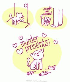 Cats are cute.