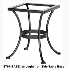 OW Lee Standard Wrought Iron Side Table Base | ST01 BASE