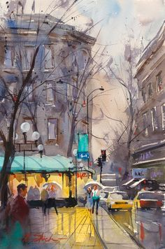 Chez Zizi — Found by Junell Toney  Ron Stocke WATERCOLOR   ...