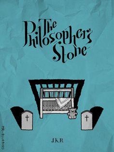 Harry Potter and the Philosopher's Stone (2001) ~ Minimal Movie Poster by Mario Graciotti #amusementphile