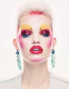 The Mix Master Vogue UK Editorial Features Exteme Beauty Looks #fashion trendhunter.com