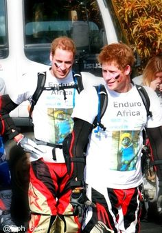 Prince William and Prince Harry, doing their bit for the world. Princess Diana would have been so proud of them!
