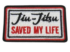 Small Jiu Jitsu Patch JIU-JITSU SAVED my Life bjj by JitsisLifecom