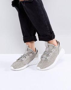 adidas originals tubuläre schatten sneaker in dunkelgrau shoezies