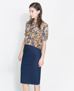 Image 1 of FLORAL PRINT CROP TOP from Zara