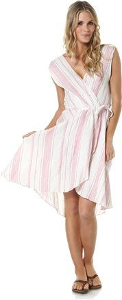 c429616932a48 Pretty wrap dress by Quiksilver  SWELL Style http   www.swell.