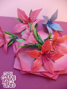 I am Istvan from Hungary, origami enthusiast. If you ask me, origami is pure awesome. Origami Flowers, Paper Flowers, Painted Paper, Origami Paper, Archive, Tutorials, Leaves, Deviantart, Pure Products