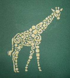 Tribal Giraffe Cross Stitch Pattern $14.00 on X Squared Cross Stitch at http://xsquared.mysupadupa.com/collections/all/products/tribal-giraffe-cross-stitch-pattern