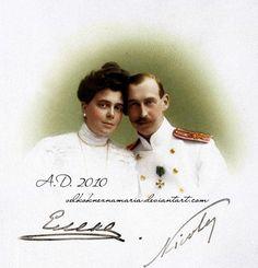 Grand Duchess Elena Vladimirovna Romanova of Russia with her husband Prince Nicholas of Greece.