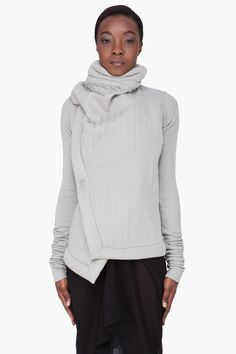 Rick Owens Lilies  Taupe Angora Wool Jacket......love this look for its simplicity. All you need are a pair of gloves and out the door you go!