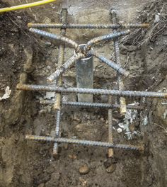 Techno metal post helical pile foundations for Maison container 50000