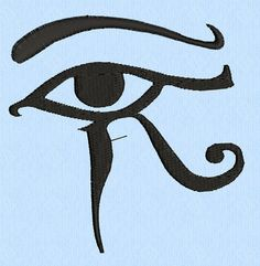Eye of Horus Machine Embroidery Design File in three by lynellen, $3.00