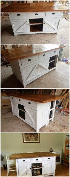 This awesome idea of wood pallet kitchen island project has been all projected out in the giant artwork where the rectangular design and approaches are being placed interestingly and so fabulously. You would surely be loving out keeping this pallet project part of your kitchen furniture.