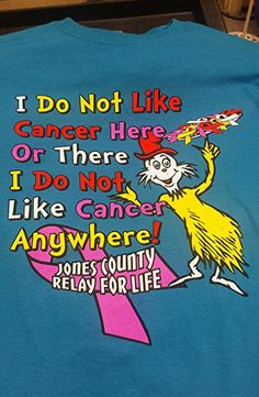 Jones County chose a Dr. Seuss theme for their Relay for Life t-shirts. Customize this design to suit your needs! Spiritwear.com
