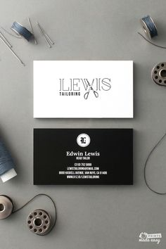 A simple but clever logo is easy to recall. Use your logo on business cards for personal branding or flyers for your tailoring business.