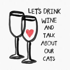 Wine And Cats- Art By Linda Woods Painting