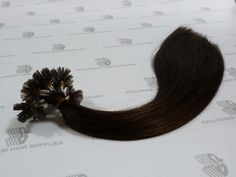 Nail/U tip hair extensions with cuticle remy hair and pre-bonded keratin, 16 inches long, color M2/8.