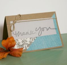 Thank You Cards, Set of 6. $15.00, via Etsy.